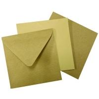 135x135 mm barna boríték